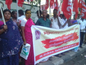 AITUC Construction Workers Protest1