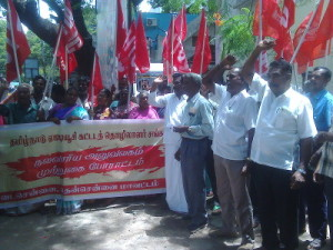 AITUC Construction Workers Protest2