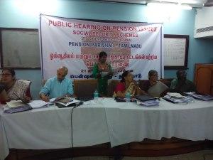 Panel Members Listen to Testimonies