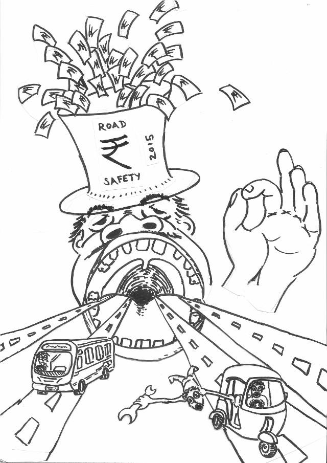 Cartoon on Road Safety Bill 640x905