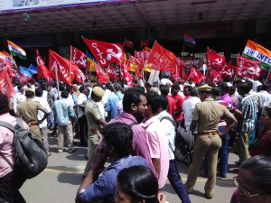 All Unions demo at Central station