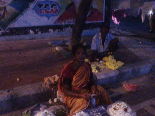 Kannagi Nagar Flower Vendor