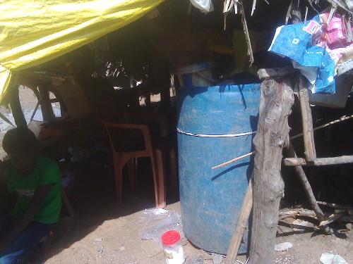 Mud hut of Irula huts washed away