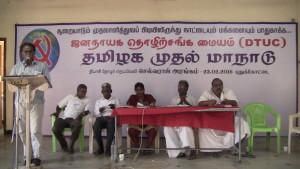 G.Chidambaranathan Addressing the delegates