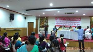 Com. Deepa addressing workers