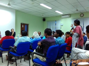 Prof Anandhi during the interactive session