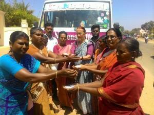 Salt pan workers flagging off the Yatra