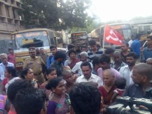 street  vendors protest