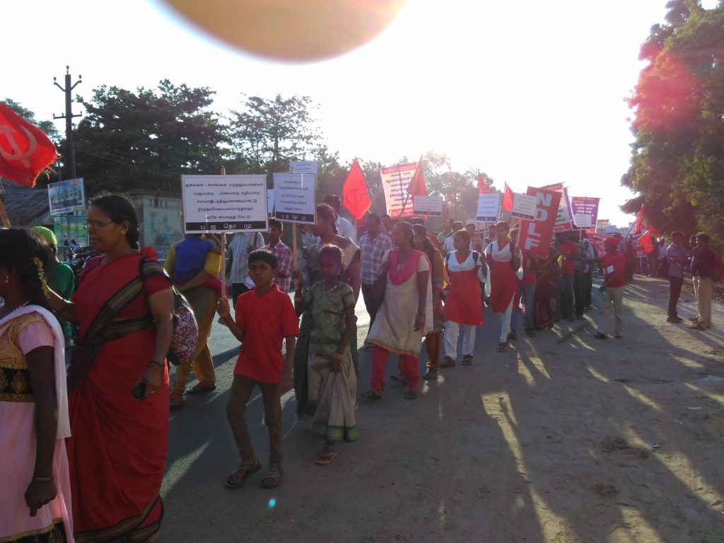 NDLF Workers take out rally in Poonamalle