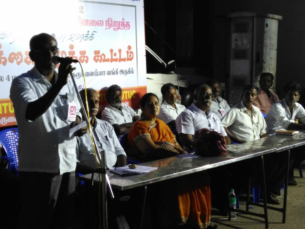 Leaders address workers Valasai