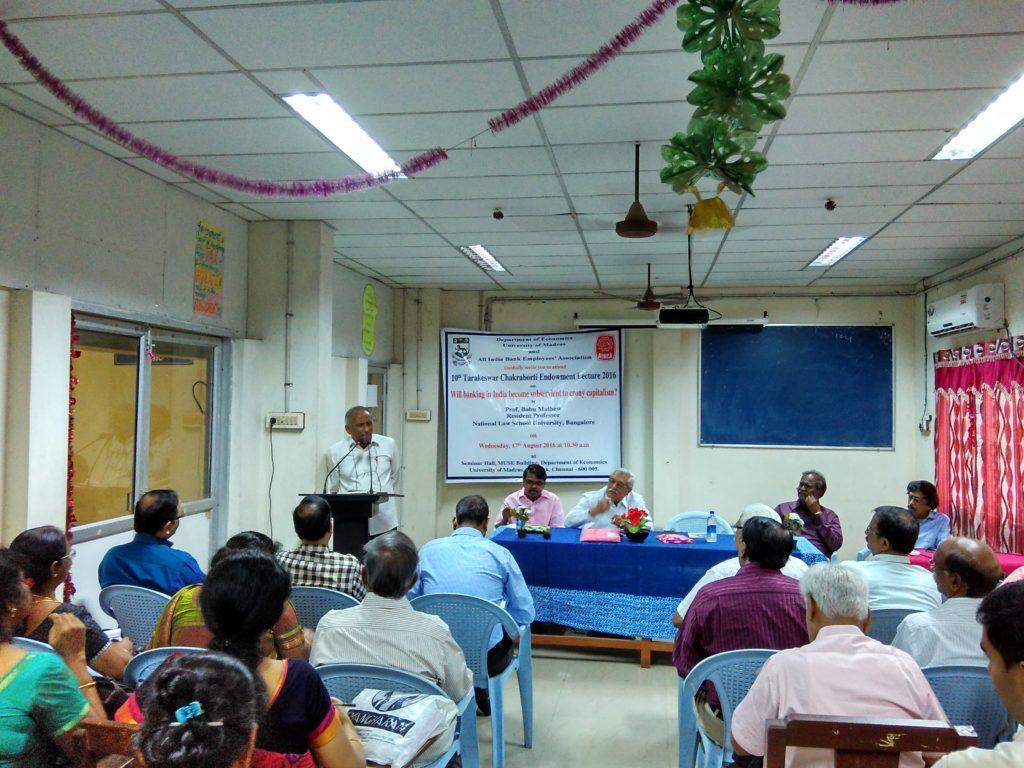 Tarakeshwar Chakroborthi Endowment Lecture 2016