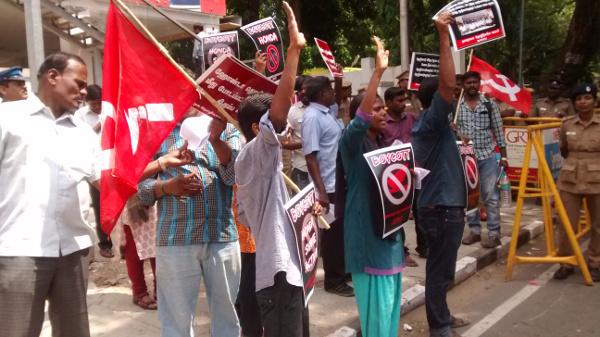 DTUC, NTUI, MASA activists protest