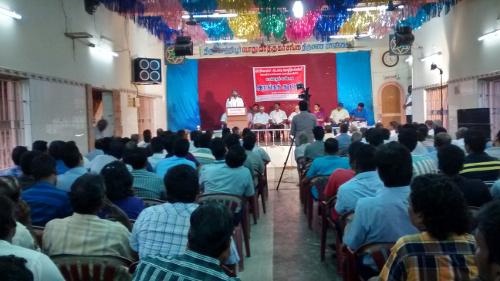 mrf workers meeting at Thiruvottiyur